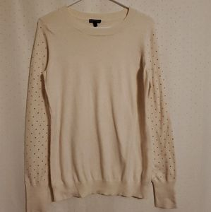 Express | Cream Gold Rhinestone Sweater